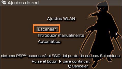 PSP escanear redes wifi
