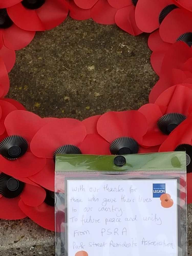 A wreath in remembrance
