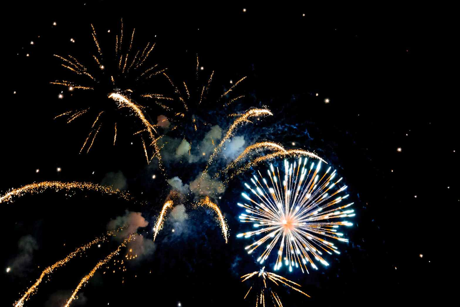 photo of fireworks during nighttime