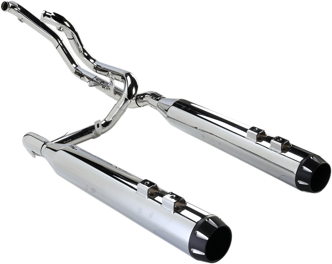 details about bassani chrome true dual down under exhaust mufflers for harley touring 09 16