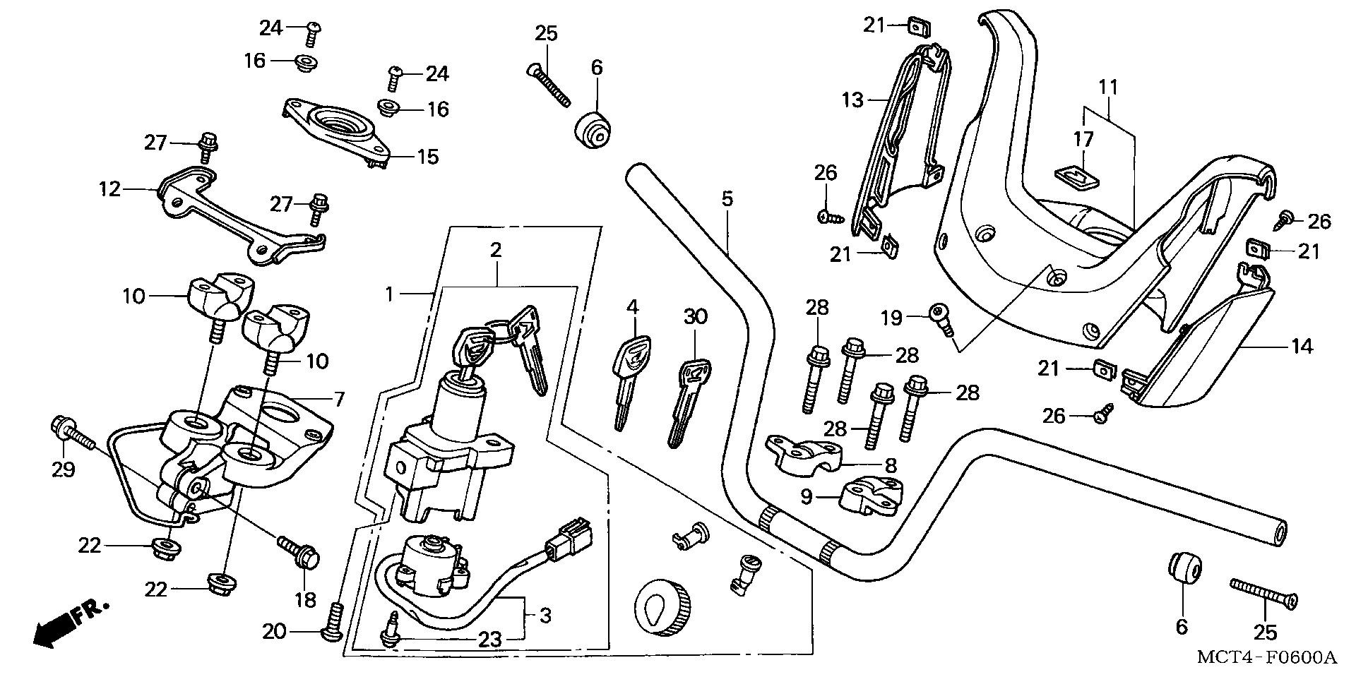Honda OEM Part 53255-KPB-000
