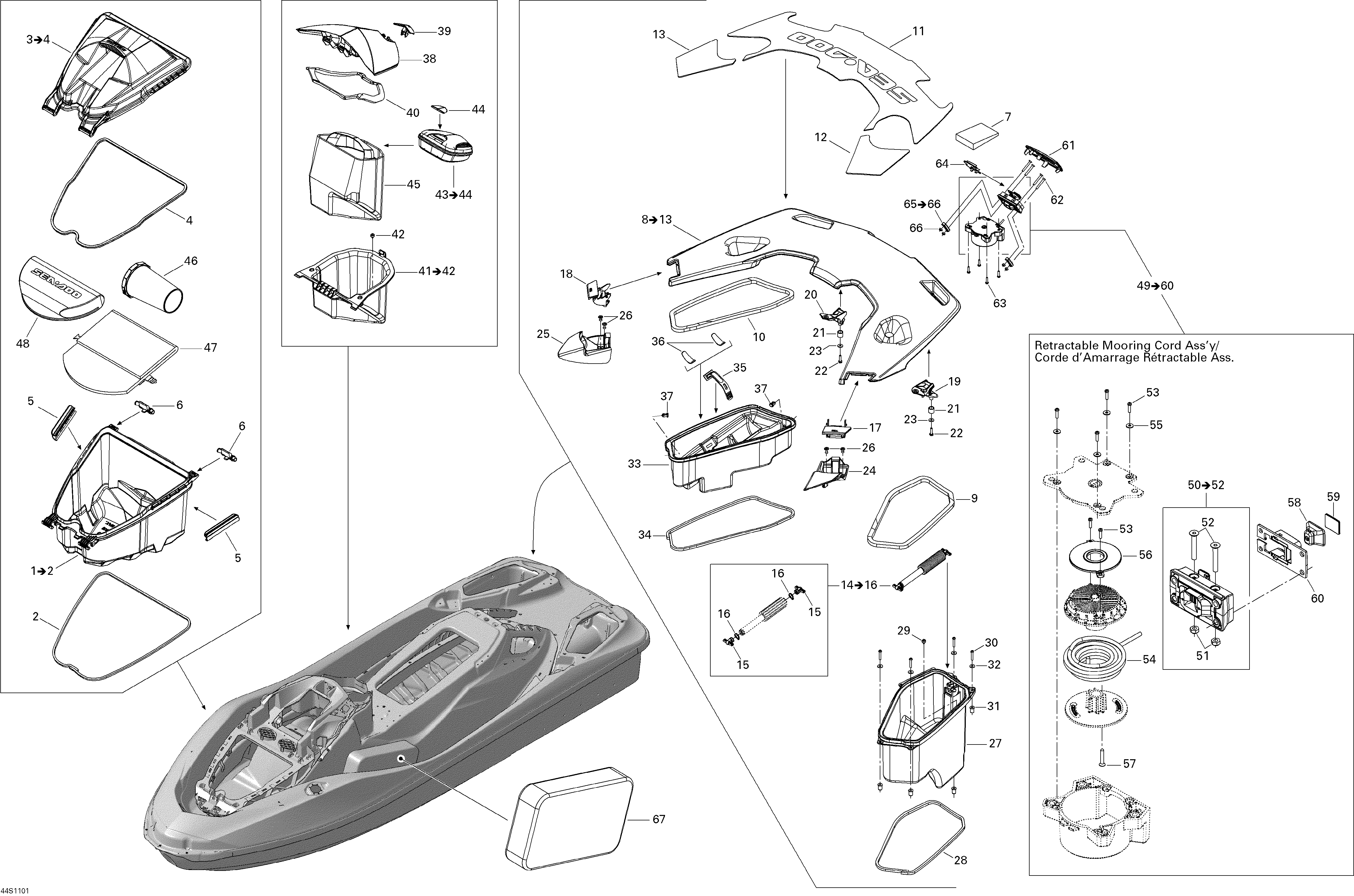Can-Am,Sea Doo , GTX / GTX-LTD / RXT / RXT-X, Storage