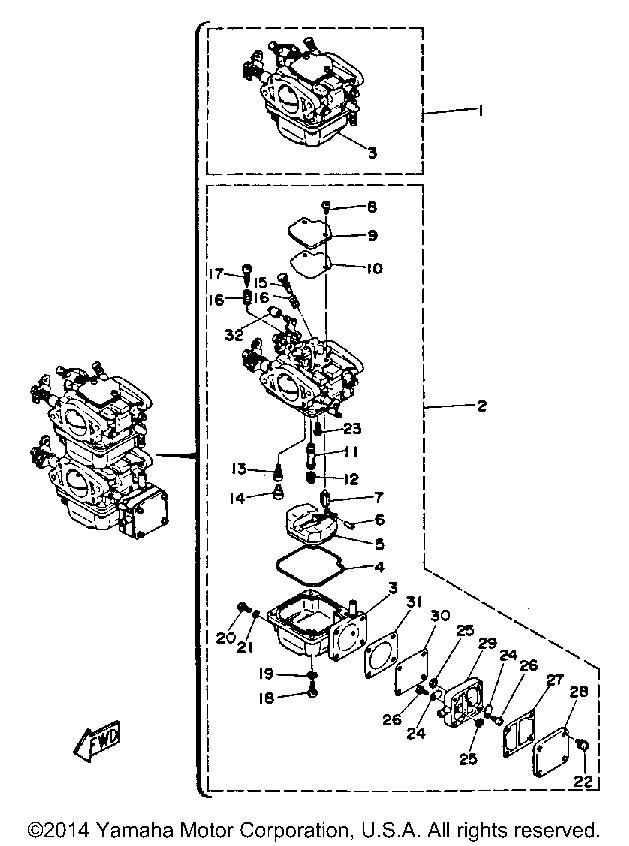 Yamaha OEM Part 50M-14355-00-00