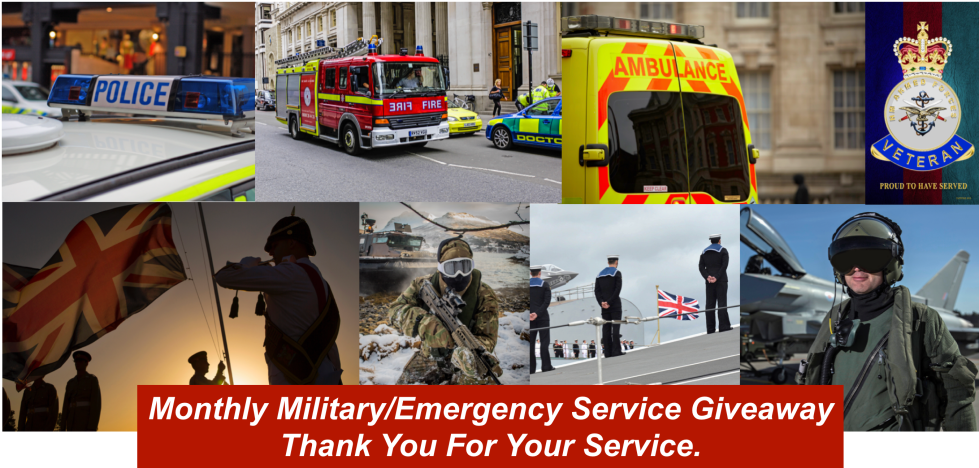 Book Giverway for Military and Emergency Services