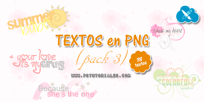 Textos PNG para blends – Pack 3