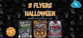 3 Flyers en PSD de Halloween
