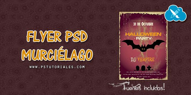 PSD Flyer Halloween – Murciélago