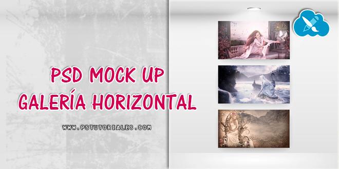 PSD Mockup Galería Horizontal