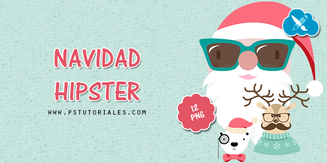 PNG Navidad Hipster