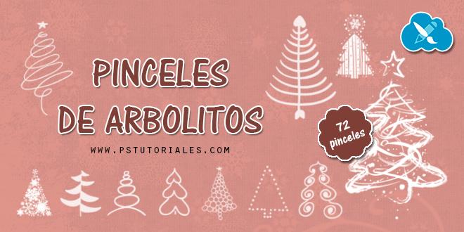 72 pinceles de arbolitos de Navidad