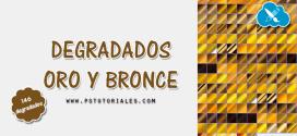 Degradados oro y bronce