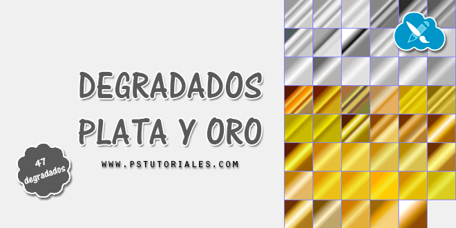 Degradados plata y oro