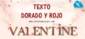 Texto dorado y rojo – Photoshop Tutorial