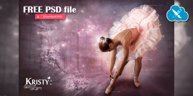 Free PSD File - Bailarina