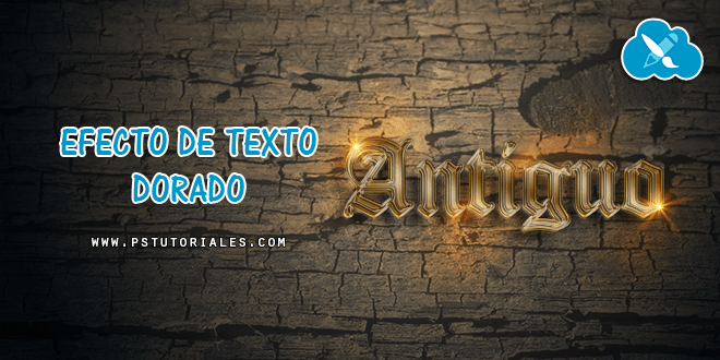 Texto dorado antiguo Photoshop Tutorial