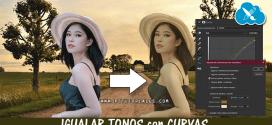 Igualar color de 2 imágenes con curvas en Photoshop