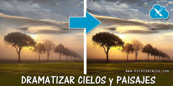 Dramatizar cielos y paisajes con Photoshop