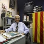 Enric Pubill, durante la entrevista en la sede de la asociación de expresos políticos. Foto: Danny Caminal.