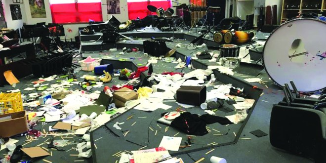 PSU's Phi Mu Alpha raises funds for vandalized high school band room