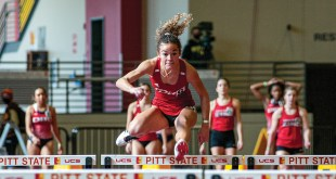 Women's track and field team competes in home meet