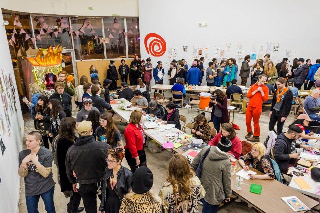 The crowd at Hot Hands 2017 hosted at The Drugstore Studios in Kansas City, MO.