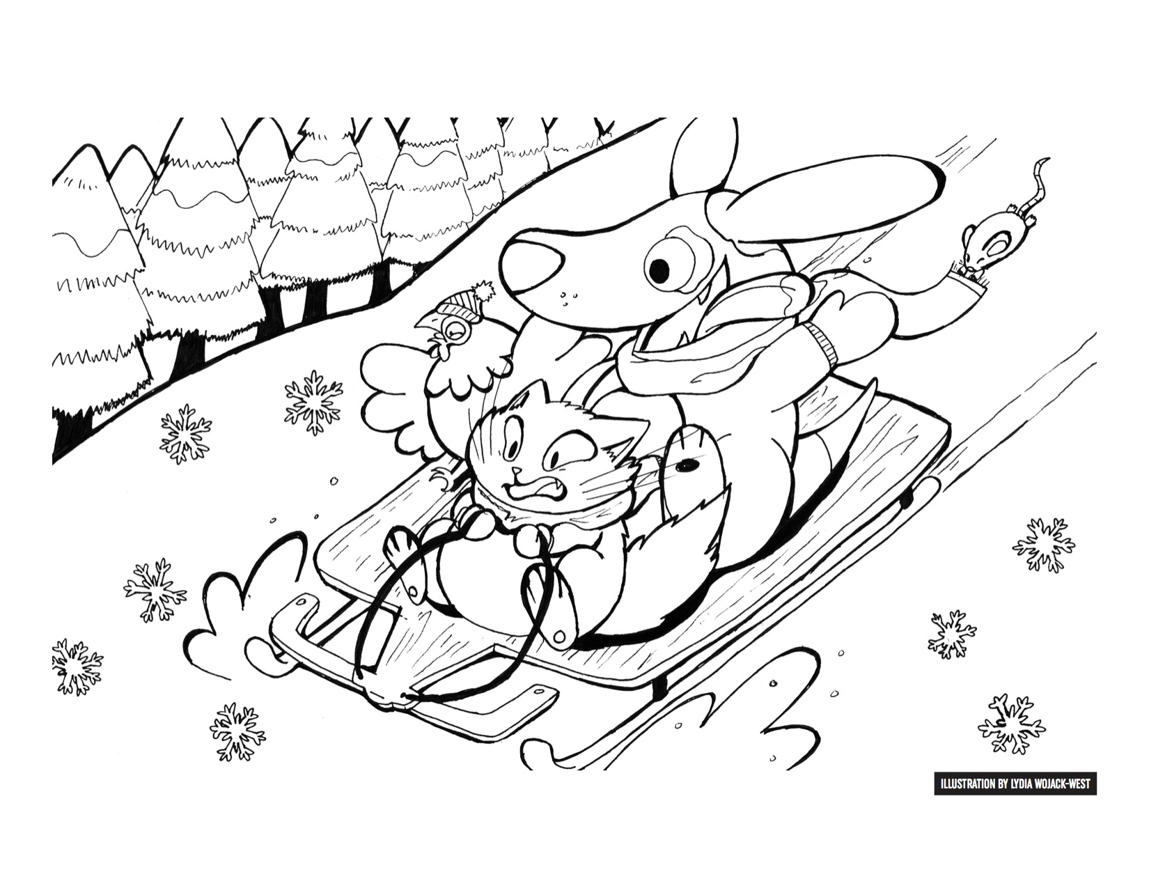 Enter the Vanguard's Holiday Coloring Contest! Win prizes