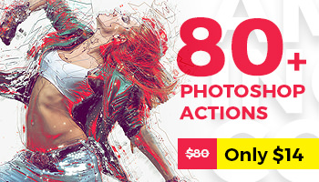 Grab ALL 80 Best Selling Photoshop Actions of 2017 – Special Download Only This Week!