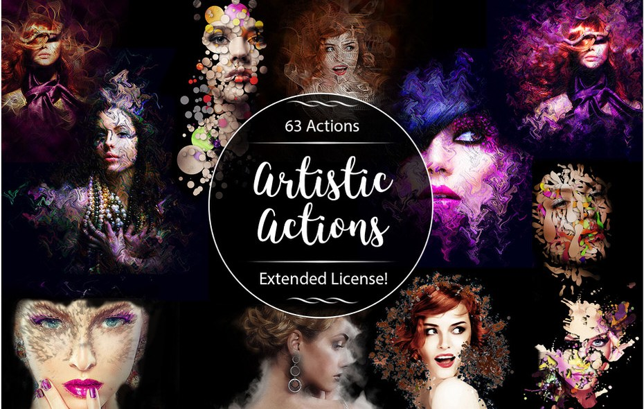 Download 63 Artistic Actions to Level Up Your Photoshop Game