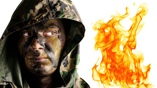 Thwarting Bomb Heat With A Heat Proof Camouflage Face Paint