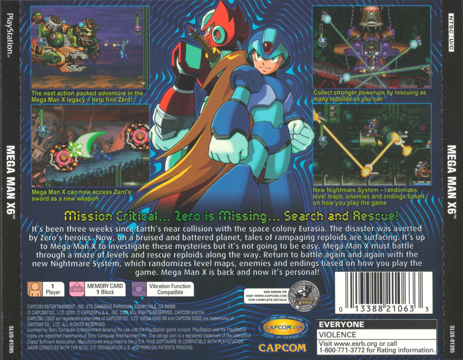 Megaman X6 Psx Cover