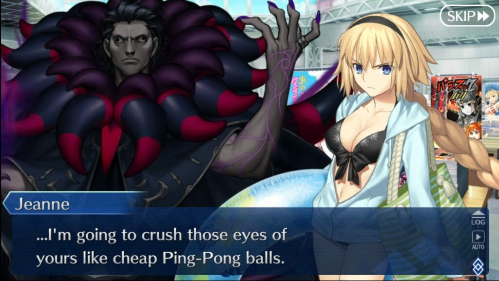 Did ServantFed make Jeanne Archer cranky? It's Creepy Gilles, though. You can't blame her.