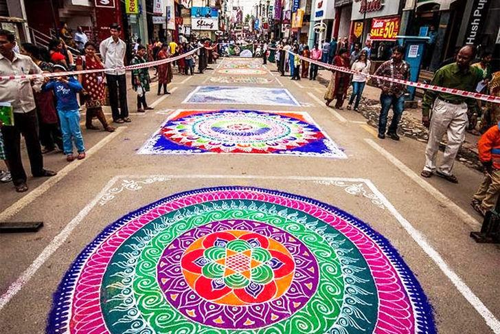 Rangoli Art Amazing Decorative Designs