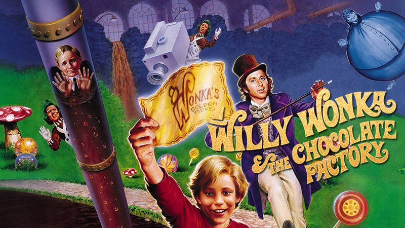 psychedelic movies Willy Wonka and The Chocolate Factory poster