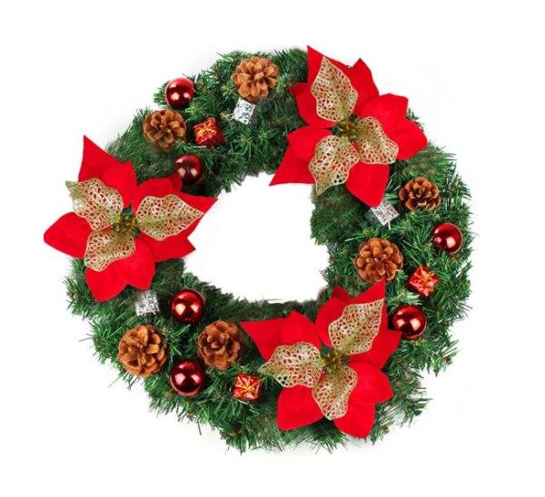 Evergreen wreaths Christmas
