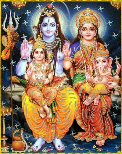Divine family Ajna Chakra