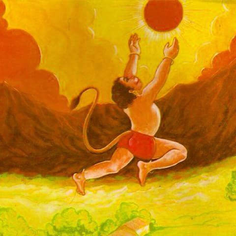 Hanuman and_Sun