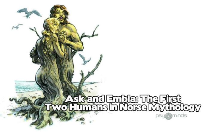 Ask and Embla The First Two Humans in Norse Mythology