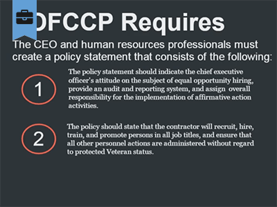Office of Federal Contract Compliance Programs (OFCCP) Course