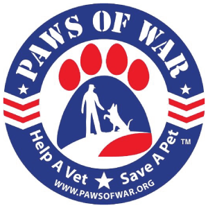 paws of war veteran ready organization logo