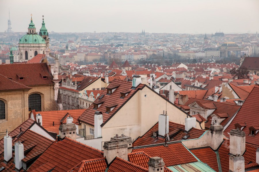 Widok na miasto spod zamku