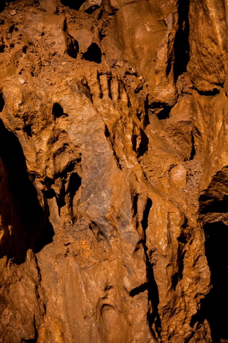 Jaskinia Bystriańska - odcisk stopy wielkoluda :)