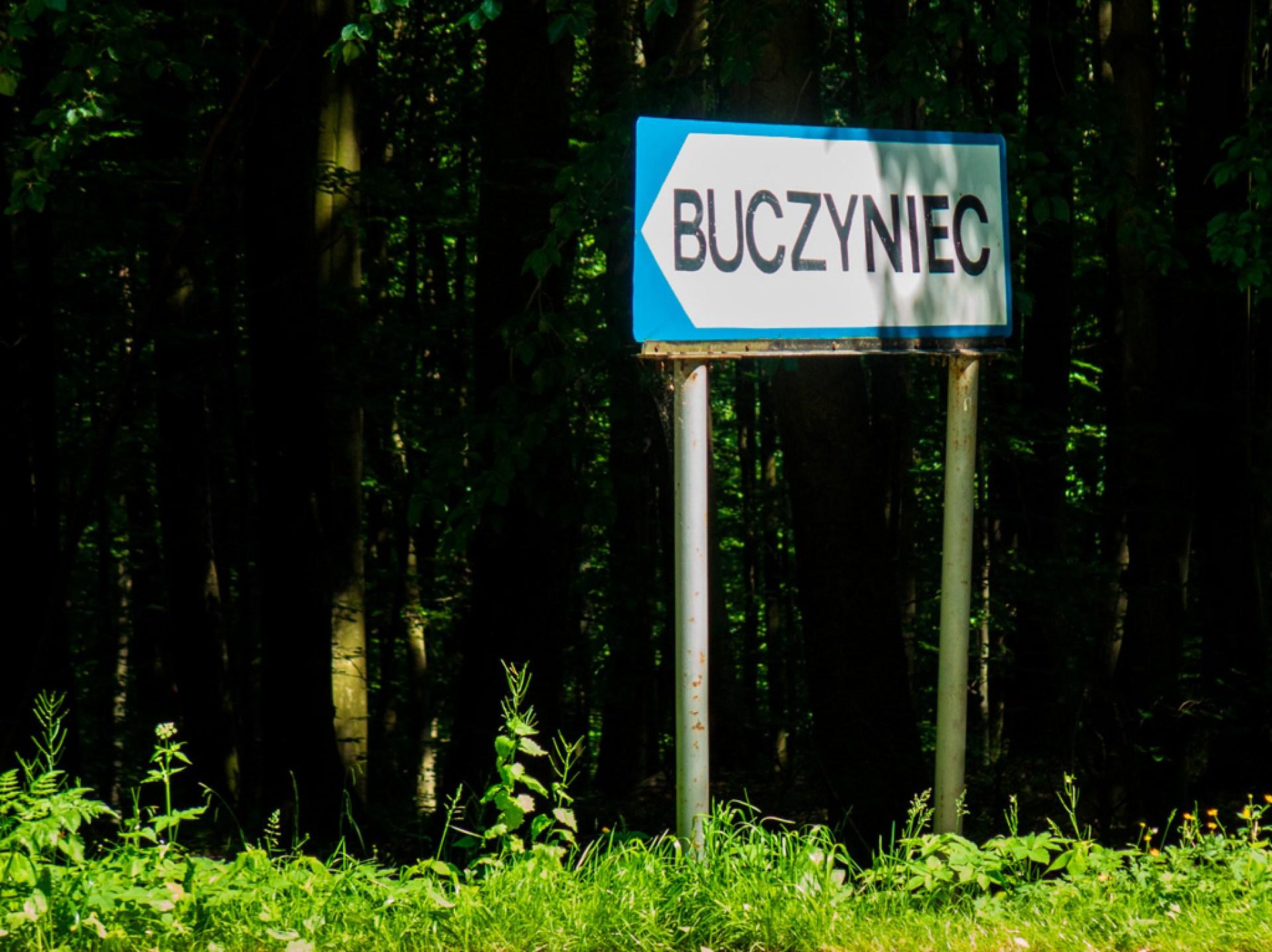 Drogowskaz na pochylnię Buczyniec