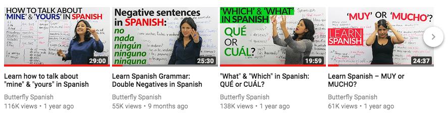 Hiszpański przed podróżą - Oglądaj lekcje na Butterfly Spanish