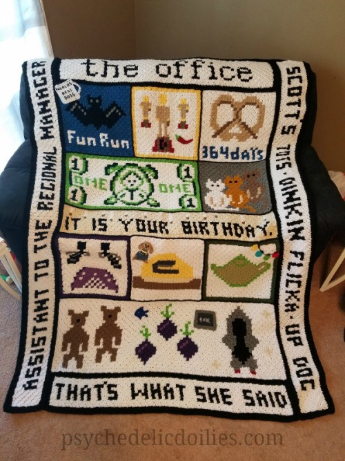The Office Crochet Blanket Pattern