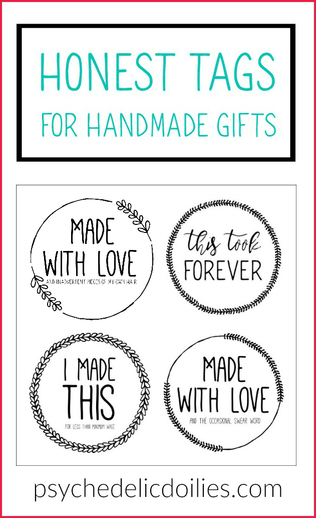Honest Free Printable Gift Tags Psychedelic Doilies