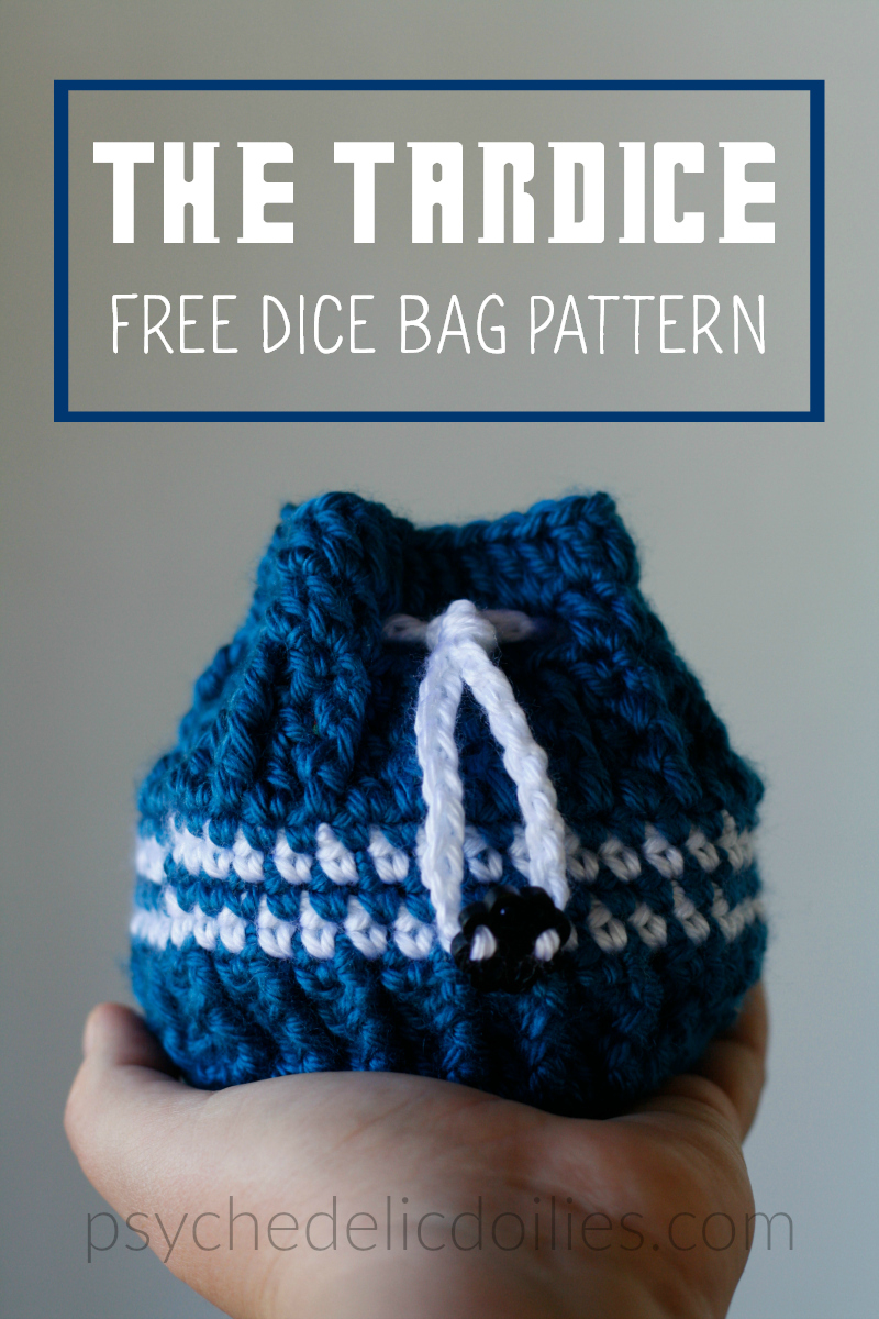 photograph regarding Dice Bag Printable Pattern named Absolutely free Crochet Cube Bag Routine - Psychedelic Doilies