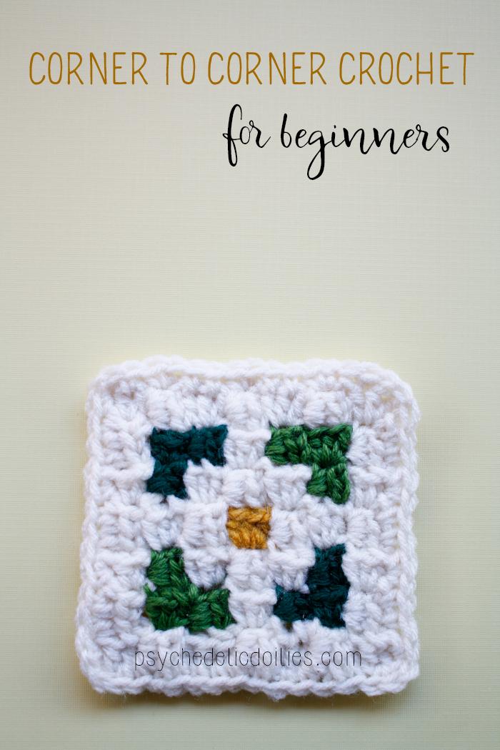 Corner to Corner crochet square