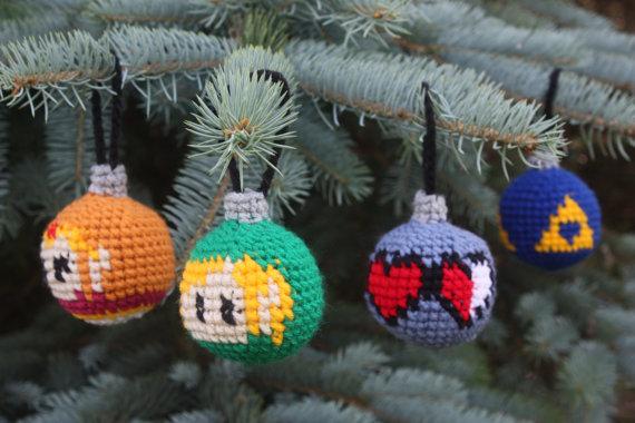 Legend Of Zelda Christmas Ornaments Crochet Pattern Set