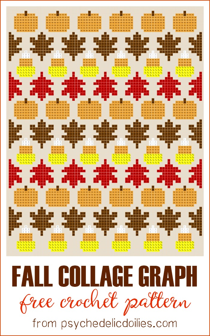 Fall Throw Crochet Pattern Graph Psychedelic Doilies