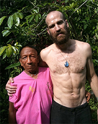 Antony with a member of the Secoya tribe in Ecuador